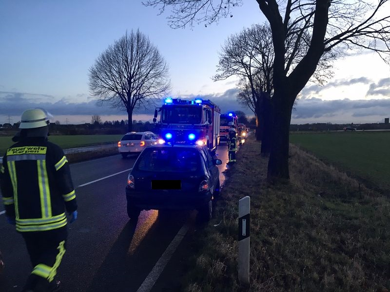 28.01.2016 – Verkehrsunfall auf der B264