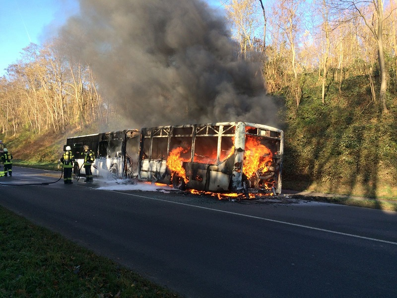 28.11.2016 – Brand eines Linienbusses