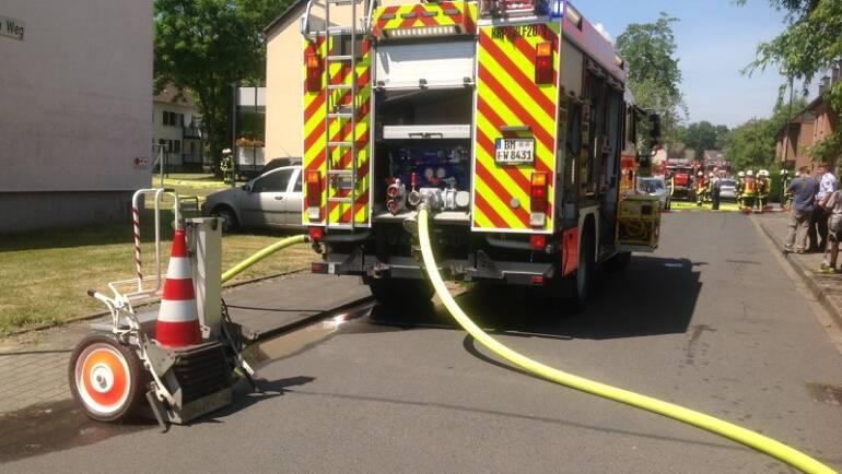 14.06.2017 – Kellerbrand in Kerpen-Horrem – zwei Personen verletzt