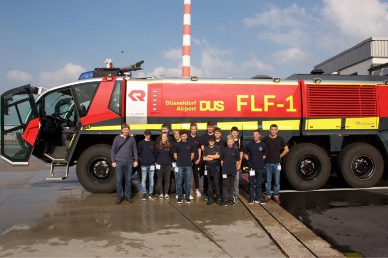 07.10.2017 – Jugendfeuerwehr Götzenkirchen besucht Flughafenfeuerwehr Düsseldorf