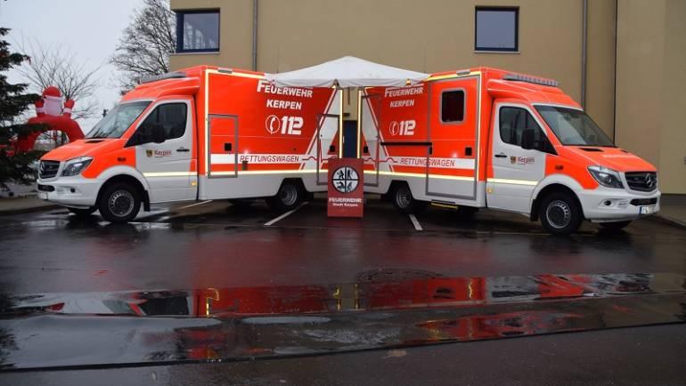 03.12.2017 – Übergabe zwei neuer Rettungswagen