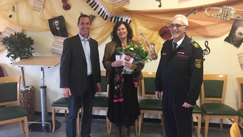 26.03.2018 – Einrichtungsleiterin des AWO-Seniorenheim Kerpen für Unterstützung gedankt