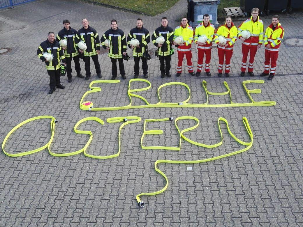 01.04.2018 – Die Feuerwehr Kerpen wünscht Frohe Ostern