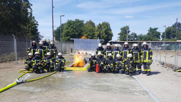 12.07.2018 – Gasbrandschulung für die Feuerwehr Kerpen