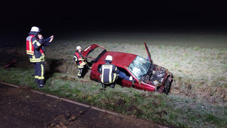 18.12.2018 – PKW bei Verkehrsunfall überschlagen