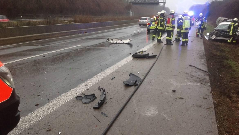 13.01.2019 – Verkehrsunfall auf der Autobahn 61