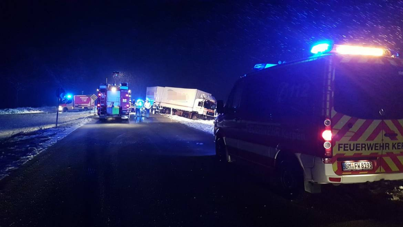 30.01.2019 – Verkehrsunfall zwischen LKW und PKW