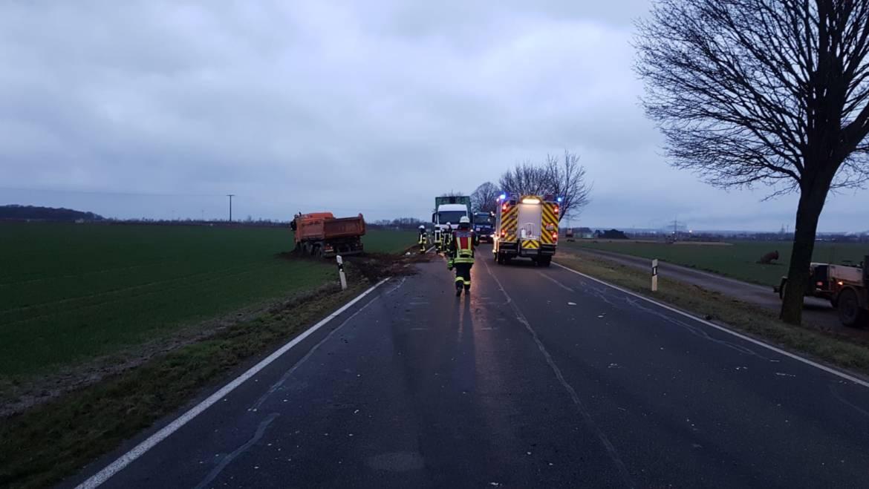 11.02.2019 – Verkehrsunfall zwischen LKW und PKW