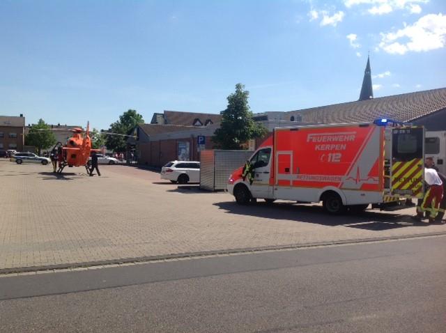 02.06.2019 – Schwer verletzte Person bei Verkehrsunfall – ein Fußgänger von PKW erfasst