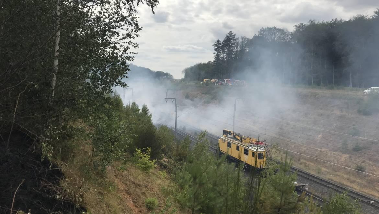 19.07.2019 – Böschungsbrand auf der Autobahn 4