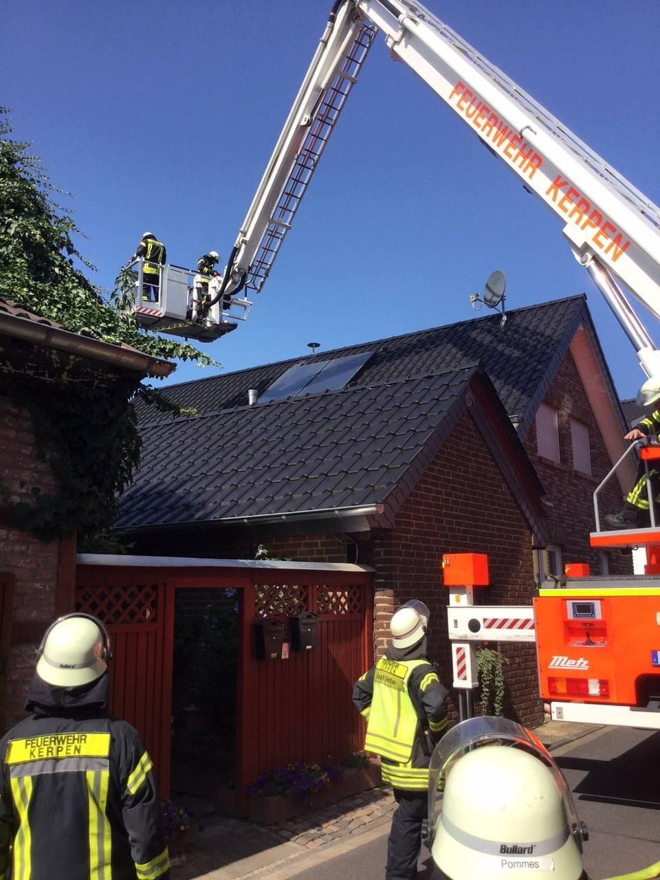12.08.2019 – Vermeintlicher Brand auf einem Dach in Blatzheim