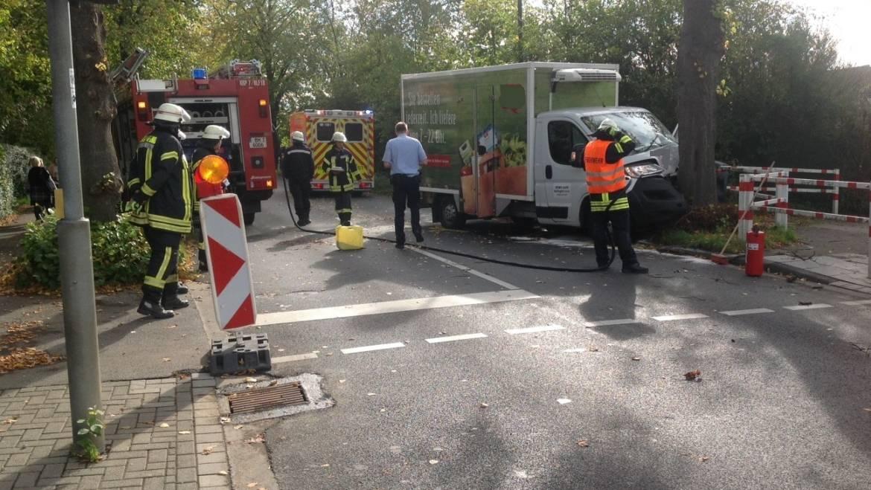 17.10.2019 – Verkehrsunfall eines Kleintransporters auf der Heerstraße