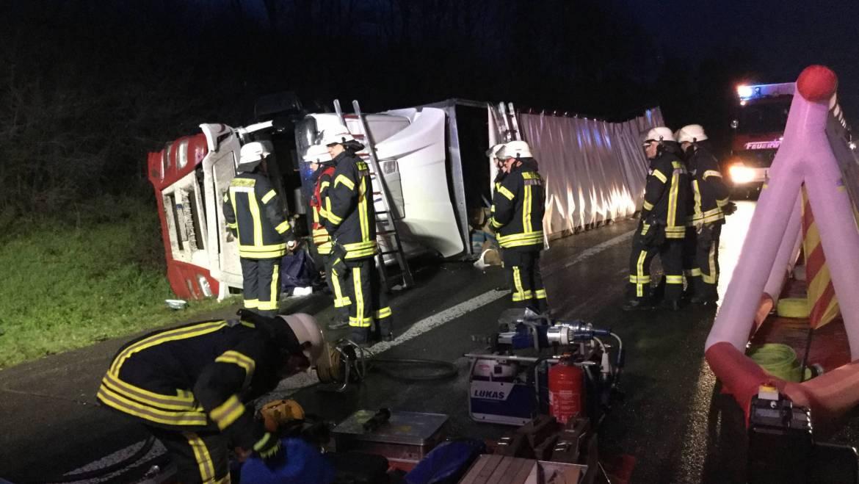 19.02.2020 – Verkehrsunfall auf der Autobahn 61