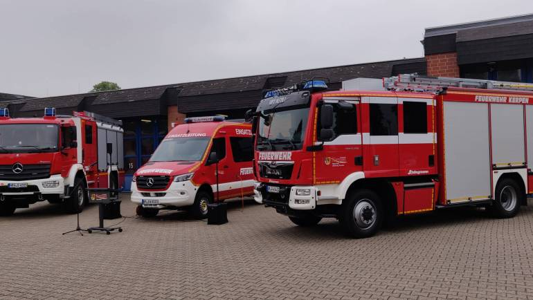 09.06.2020 – Drei neue Einsatzfahrzeuge für die Feuerwehr Kerpen