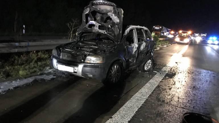 2020-07-16 – Verkehrsunfall auf der Autobahn 61