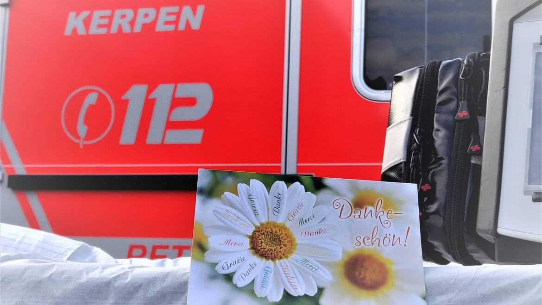 30.09.2020 – Dankschreiben einer Patientin an den Rettungsdienst der Feuerwehr Kerpen