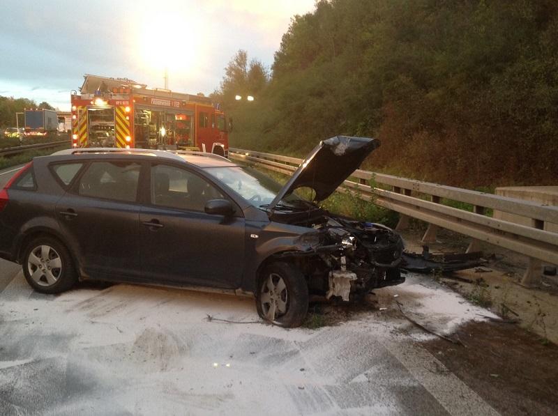 05.10.2020 – Verkehrsunfall auf der Autobahn 61