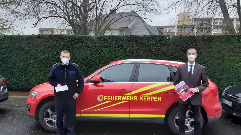 29.12.2020 – Interner Newsletter der Feuerwehr an die Ehrenabteilung übergeben