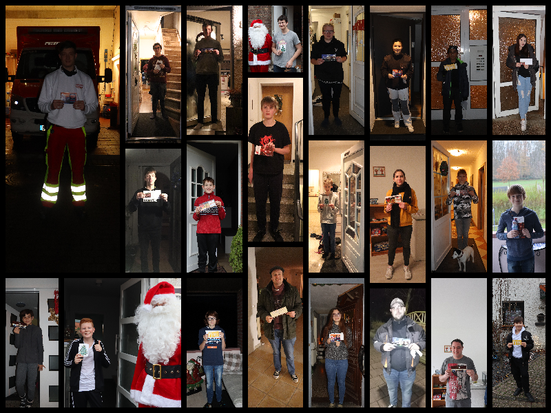 25.12.2020 – Adventskalenderaktion und Weihnachtstüte für die Jugendfeuerwehr Sindorf